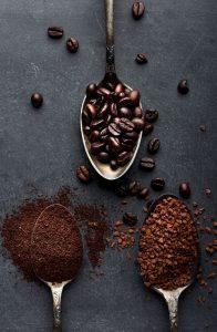Café moulu et grain